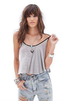 Ribbed Y-Back Cami #Basics #SummerForever