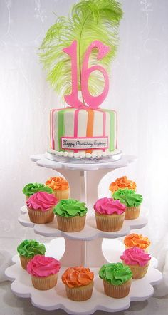 Sweet 16 Cupcake Party ~could be used for any birthday #« The Cupcake Blog
