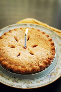 Birthday Pie. Makes me think of something my Grampa said: I love cake as long as it's spelled P-I-E.