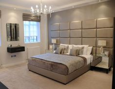 10 Exclusive Bedside Tables for your Master Bedroom Decor Bedroom Lamps Design, Luxury Bedroom Design, Master Bedroom Design, Home Bedroom, Modern Bedroom, Bedroom Decor, Interior Design, Bedroom Ideas, Bedroom Furniture