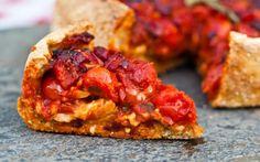 Chicago Deep Dish Pizza With Cashew Mozzarella [Vegan] | One Green Planet