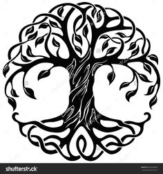 Tree Of Life With Roots Clipart
