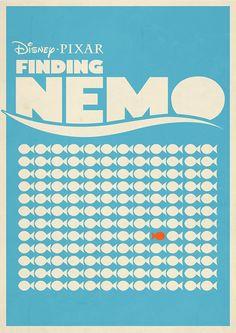 Finding Nemo (2003) ~ Minimal Movie Poster by Rory Adams #amusementphile