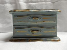 Please visit my shop on Etsy.  Hand painted vintage jewelry box / Shabby Chic by cgraceandcompany