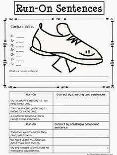 Rockin Resources: Writing Mini Lesson #4- Run-On Sentences