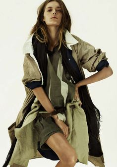 Layered Wind-Blown Fashions : Elle Sweden March 2011