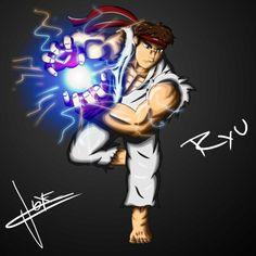 "Ilustración Digital ""Ryu"" #Ryu #StreetFighters #AdobePhotoshopCC #DigitalArt #DigitalPaint"