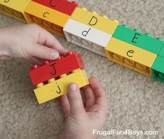 Learning Uppercase & Lowercase Letters with Duplo Lego! #preschool #efl (pinned by Super Simple Songs)