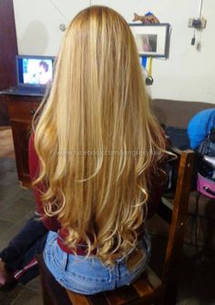 long straight hair with curled ends. #longhair
