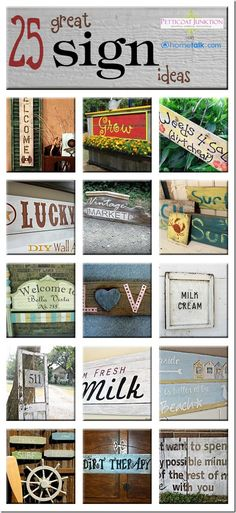 diy 25 great sign ideas hometalk clipboard, crafts, Curated clipboard 25 Great Sign Ideas shared on Hometalk Graphic by Hometalk thanks guys Pallet Crafts, Pallet Art, Pallet Signs, Wood Crafts, Wood Projects, Craft Projects, Projects To Try, Craft Ideas, Painted Signs