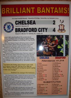 Chelsea 2 Bradford City 4  2015 FA Cup  by LilywhiteMultimedia