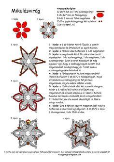 Beaded Snowflake Pattern no pic