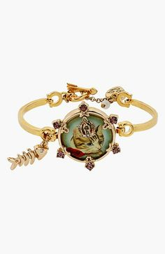 Betsey Johnson 'Vintage Bow - Boy Kitty' Bracelet available at #Nordstrom