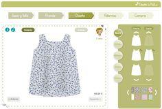 1) Elige el patrón que más te guste y añádele la tela. En el centro verás cuál es el resultado.