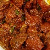Laal maas is a fiery Rajasthani meat curry. #Lamb cooked in a variety of masalas with a burst of red chillies.