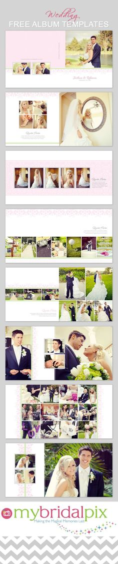 FInd all your needs for a DIY #wedding #album at www.mybridalpix.com.  Why pay a pro when you can do it yourself and save hundreds of dollars in the process. Simply drag and drop your images into ready made templates.