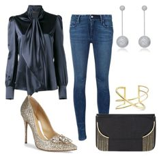 """""""Jens clothes"""" by daniellecarso on Polyvore featuring Yves Saint Laurent, RtA, BCBGMAXAZRIA, Schutz, SOKO and Collette Z"""