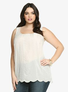 Beaded Tank Top From the Plus Size Fashion Community at www.VintageandCurvy.com