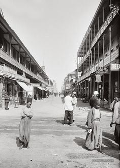 Main street of Port Said. Port Said, Egypt. Old Pictures, Old Photos, Vintage Photos, Time Travel, Places To Travel, Old Egypt, Valley Of The Kings, Travel Channel, Travel Memories