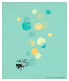 Memory bubbles by ILoveDoodle, via Flickr