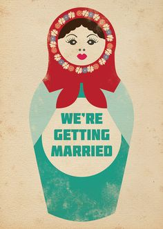 Russian Doll Themed Vintage Retro Style Wedding by magikstationery, $3.00
