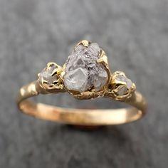 Wedding Ring Images, Diamond Wedding Rings, Uncut Diamond Engagement Ring, Uncut Diamond Ring, Boho Engagement Ring, Boho Wedding Ring, Raw Diamond Rings, Dream Wedding, Raw Stone Engagement Rings