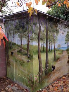 Murals On Sheds Outdoor Garden - Bing Images