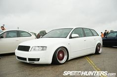 passat wagon rims | White A4 wagon with painted BBS wheels, nice combination. As you can ...