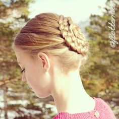"""""""Side view of this four strand braided seashell bun on @julilouise"""" Photo taken by @flettemia on Instagram, pinned via the InstaPin iOS App! http://www.instapinapp.com (04/02/2015)"""