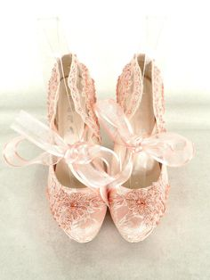 Wedding Shoes Bridal Shoes Embroidered Blush by KUKLAfashiondesign