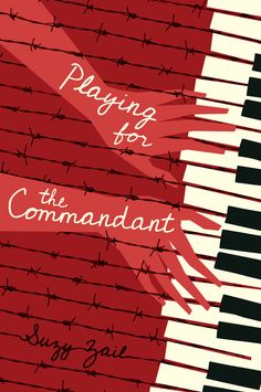 Book cover; Playing for the Commandant | Design: Matt Roeser, Candlewick Press | via: casualoptimist.com