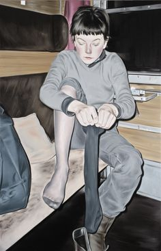 Marcin Maciejowski, Fine Gesture, 2013, oil on canvas, 170 x 130 cm (66.93 x 51.18 in)