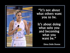 Basketball Motivation Elena Delle Donne Photo Quote Poster Wall Art Print It's About Doing What Suits U & What U Want-Free Ship by ArleyArt on Etsy Basketball Motivation, Basketball Tricks, Basketball Posters, Basketball Is Life, Basketball Workouts, Basketball Shooting, Basketball Quotes, Basketball Games, Basketball Outfits