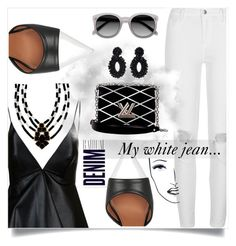 """""""#Jeans"""" by liligwada ❤ liked on Polyvore featuring Valentino, Givenchy, River Island, Louis Vuitton, Bibi Marini, Black Magic Lashes and Alima"""