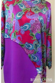 Printed Silk Satin and Silk Crepe Dress Crepe Dress, Silk Crepe, Silk Satin, Day Dresses, Summer Dresses, Dress Making Patterns, Printed Silk, Ladies Day, Dressmaking