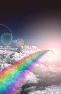 Somewhere over the rainbow over the white clouds so high Over The Rainbow, Love Rainbow, Rainbow Colors, Rainbow Nails, Rainbow Art, Rainbow Things, Rainbow Images, Rainbow Logo, Rainbow Makeup
