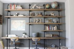 How to Build Industrial Shelves - Beneath My Heart