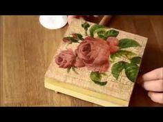 Decoupage technique and Cracking Varnish - Starter Kit 1 - YouTube