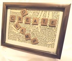 Create dreams  Scrabble Art by TheGuildedWord on Etsy, $20.00
