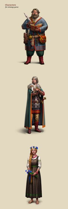 Characters for strategy game on Behance