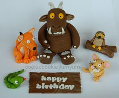 1 edible 3D GRUFFALO & CHARACTERS fox mouse owl snake sign cake decoration topper decoration party wedding anniversary birthday engagement