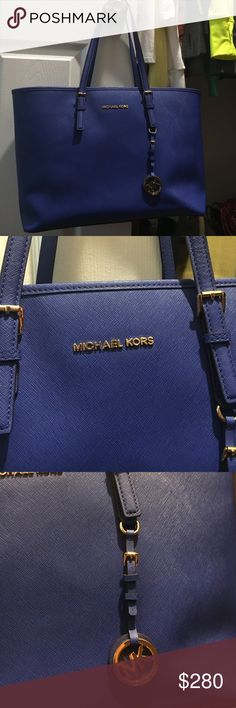 Michael Kors Shoulder Bag Vibrant Blue Michael Kors Purse. Great space. Authentic. Only used several times. No defects! Like brand new! ACCEPT REASONABLE OFFERS💋 Michael Kors Bags Shoulder Bags