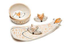 15 diseños en cerámica para tu casa  Set de sushi modelo Fox