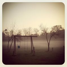 Swing set in the fog....