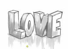 drawingteache… presents How to draw LOVE Graf .drawingteache… präsentiert Wie zeichnet man LOVE Graffiti Buchstaben … www.drawingteache… presents How to draw LOVE graffiti letters …, # letters - Love Drawings Tumblr, Cute Drawings Of Love, Word Drawings, Pencil Art Drawings, Art Drawings Sketches, Cool Easy Drawings, Cartoon Drawings, Drawing Letters, Hipster Drawings