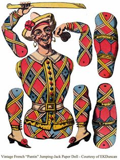 vintage pirate jumpin jack paper doll