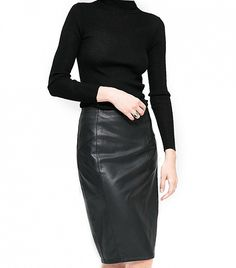 27ee1d35de61 22 Best Black leather skirt outfits images | Dressing up, Ladies ...