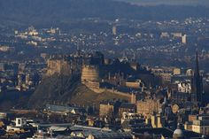 Edinburgh Castle.  Edinburgh Castle is the most famous in the country and has stood in one form or another for over 650 years.    The rock upon which it rests has been there for far longer and is a curious natural phenomenon given that it sits in a modern urban environment.