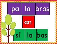 Palabras en sílabas