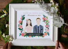 Custom illustration, Wedding illustration, Custom portrait illustration, Couple portraits